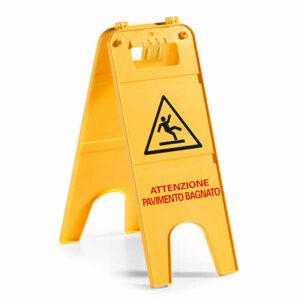 Segnale attenzione archivi eco service - Cartello pavimento bagnato ...